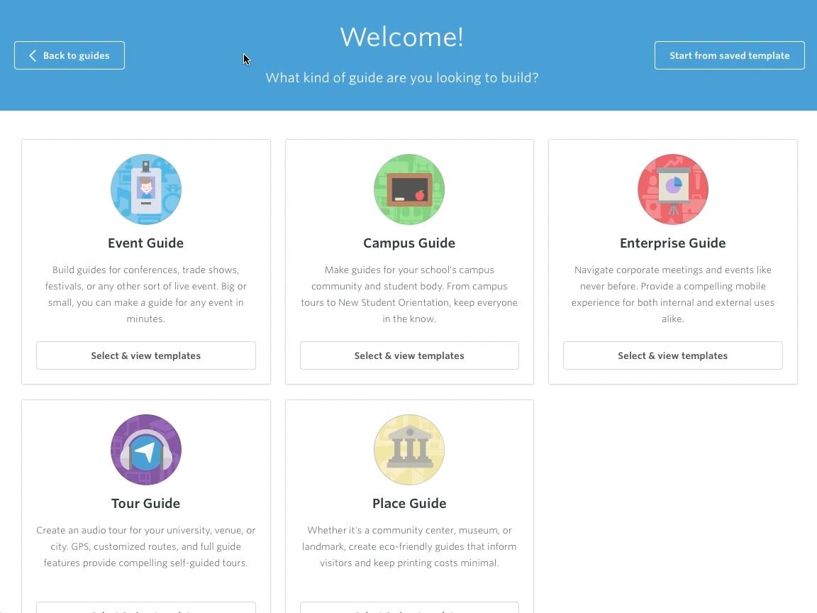 Erstelle eine App | Guidebook