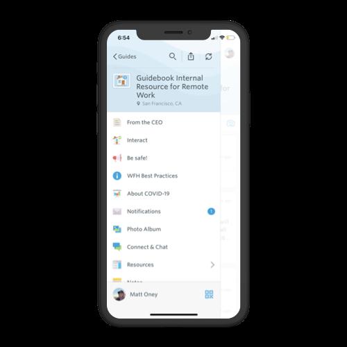 remote work app sidebar