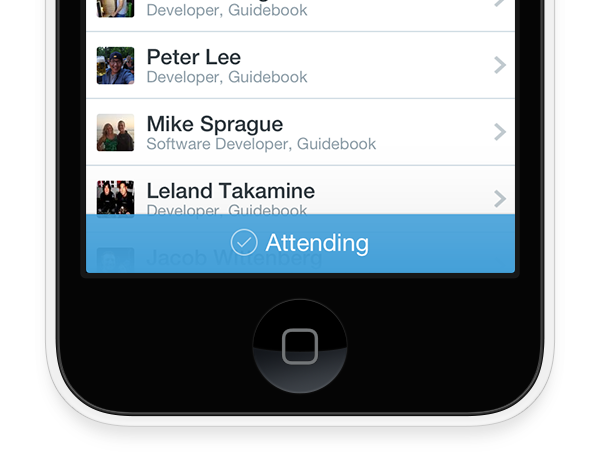 event check ins with Guidebook app