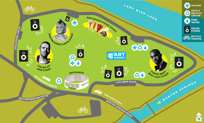 ACL best festival maps