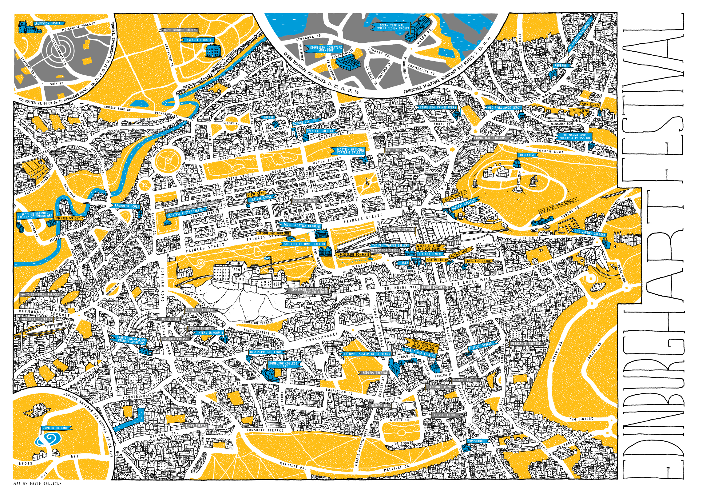 Edinburgh Fringe Map Relive the Music With These Gorgeous Festival Maps | Guidebook