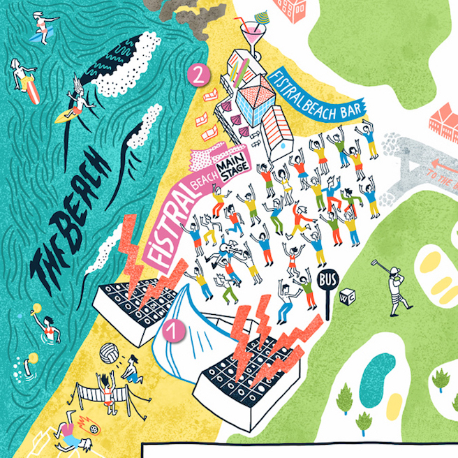 show me the best festival maps