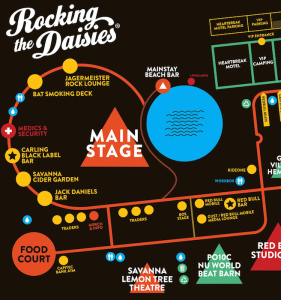 find the best music festival maps