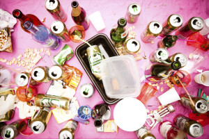 clean up and then evaluate your event