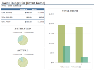 great event budget template