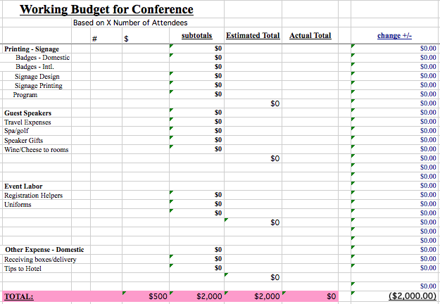 We Found All The Best Event Budget Templates