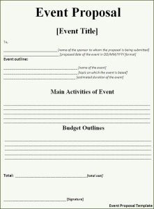 bad event proposal template 4