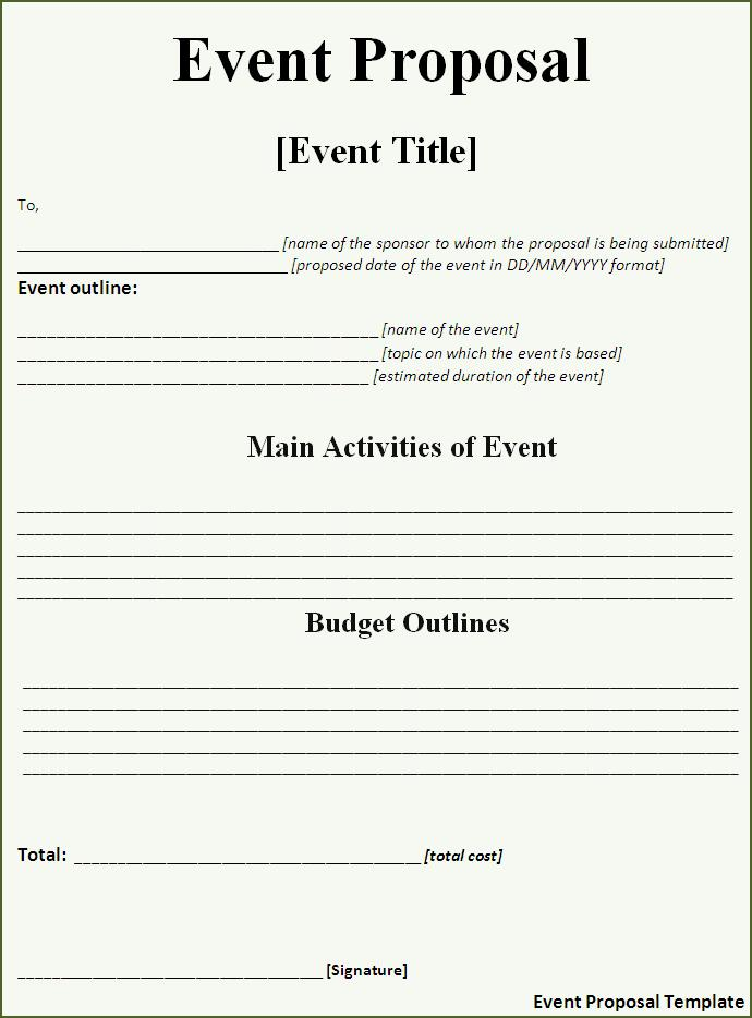 Craft A Perfect Event Proposal Template Now – Proposal for an Event