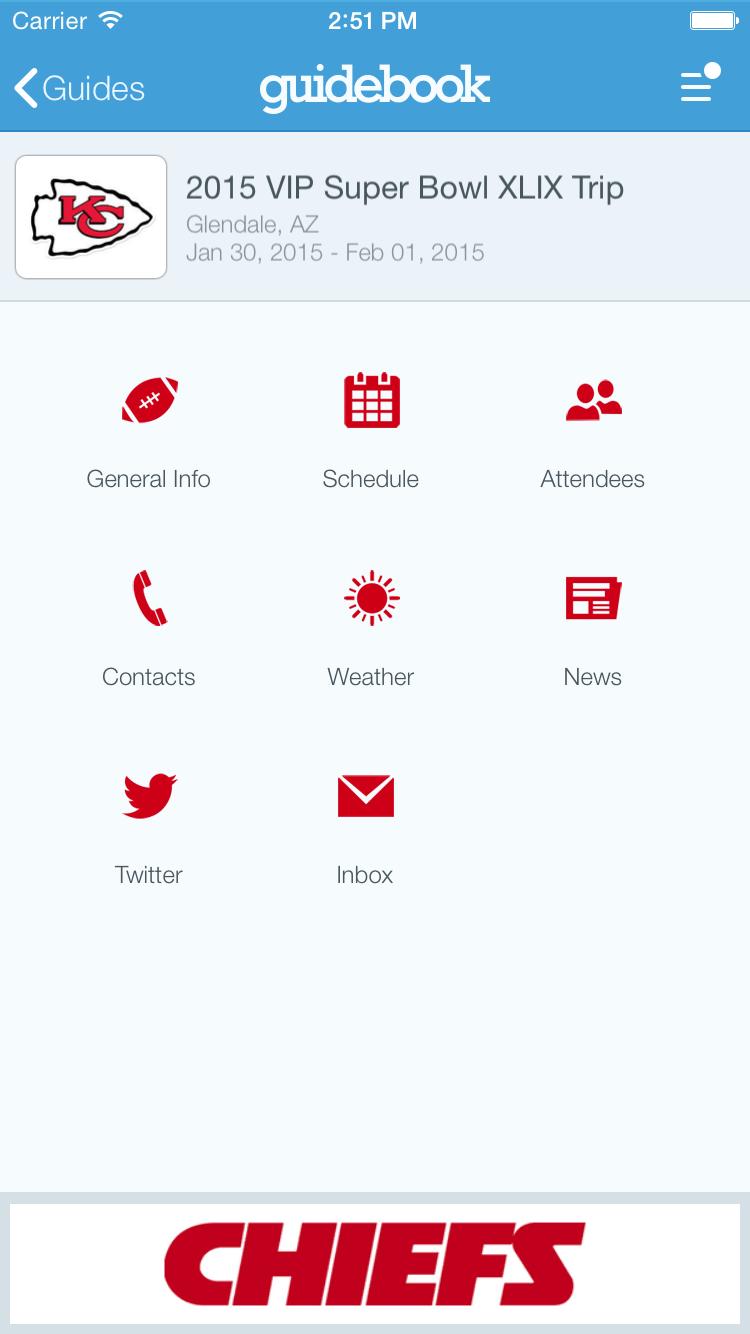 create an app to organize a trip