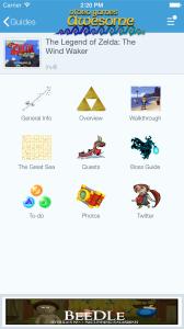 create a video game guide app