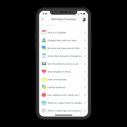guidebook custom list feature
