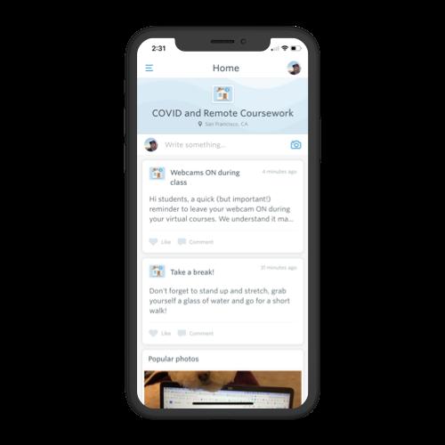 guidebook campus app interact feed