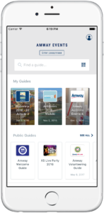 Amway mobile app guide screen