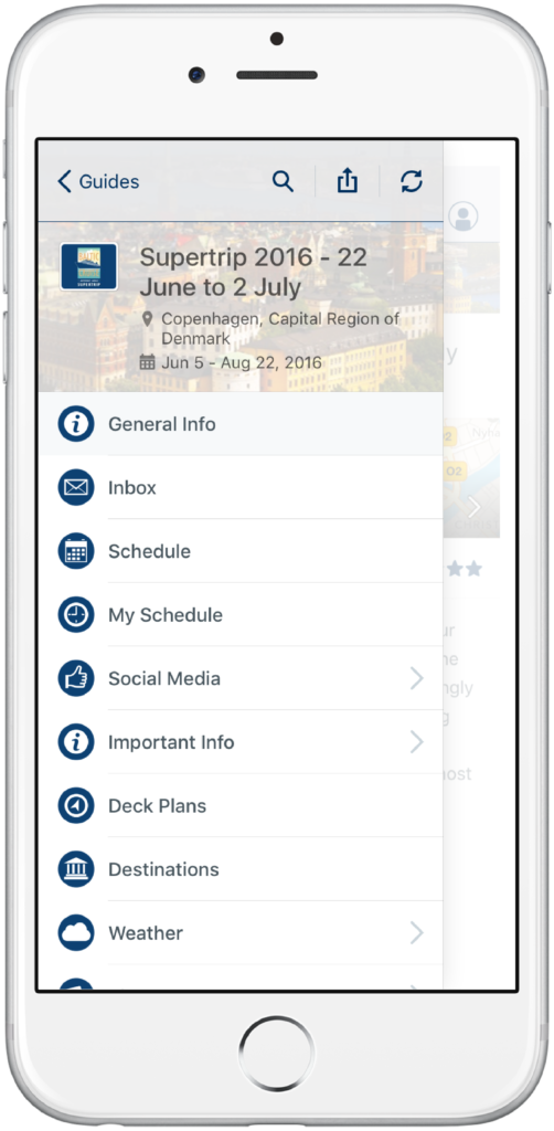 Amway mobile app menu
