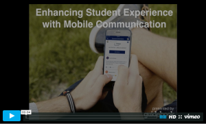enhancing student experience with mobile communication