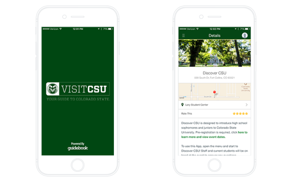Colorado State's Admissions App