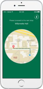 Campus tour app en route