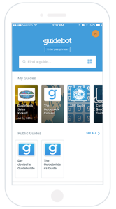 guidebot home screen