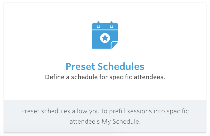 meeting app preset schedules