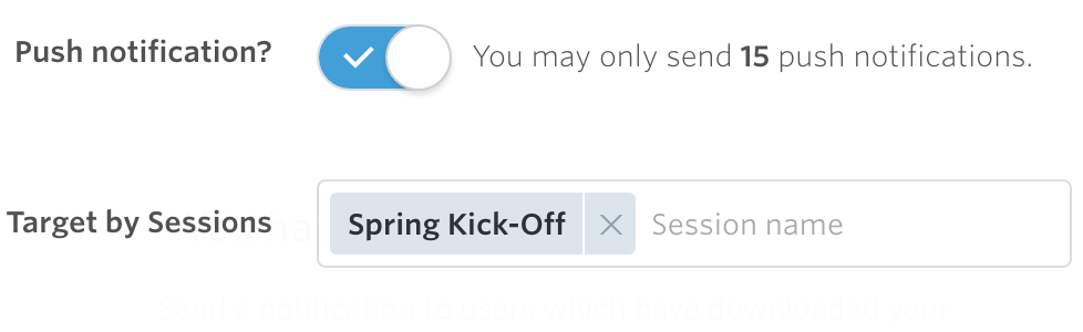 meeting app push notification