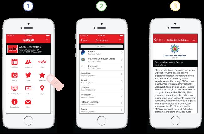 event app sponsorship module