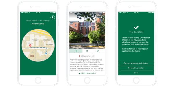Guidebook's self-led mobile campus tour